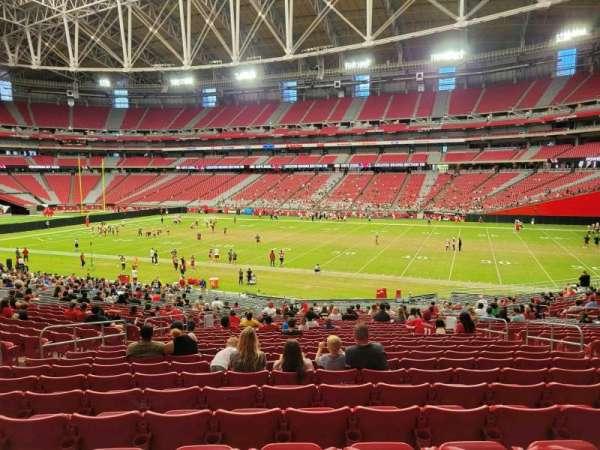 State Farm Stadium, secção: 103, fila: 36, lugar: 26