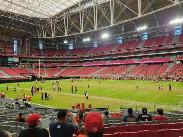 State Farm Stadium, secção: 102, fila: 17, lugar: 19