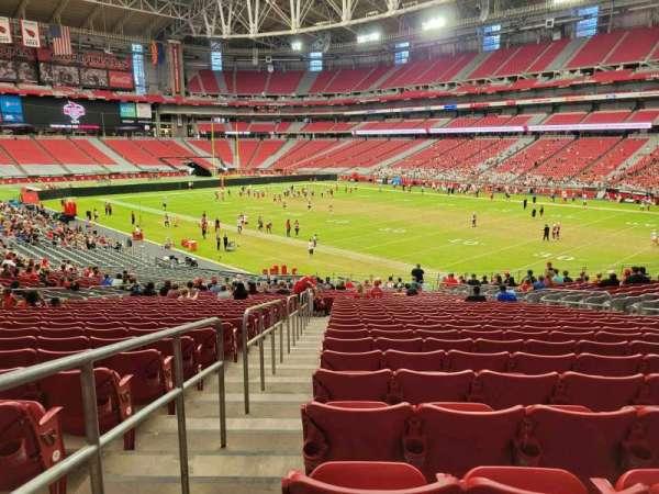 State Farm Stadium, secção: 102, fila: 36, lugar: 16