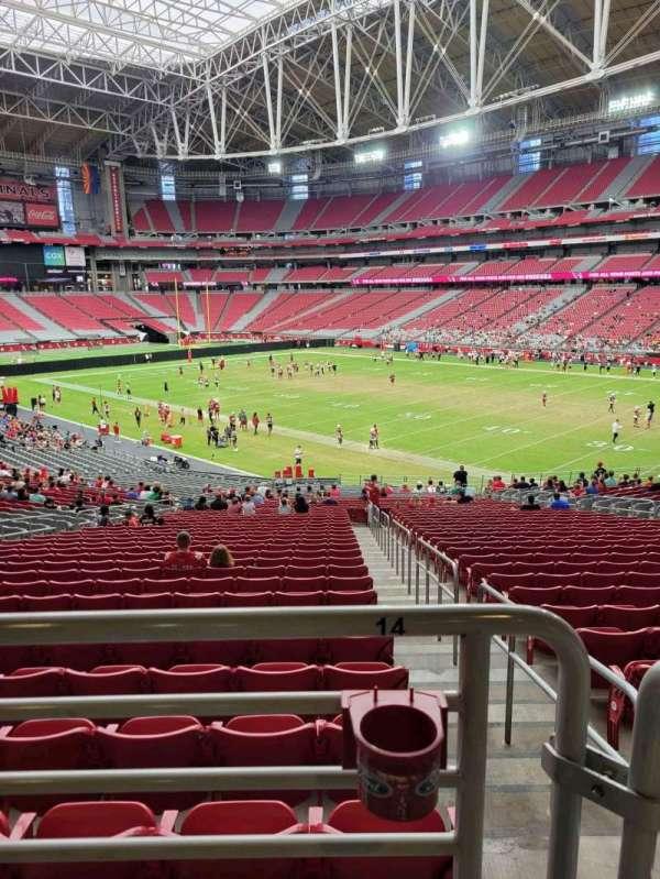 State Farm Stadium, secção: 102, fila: 41, lugar: 14