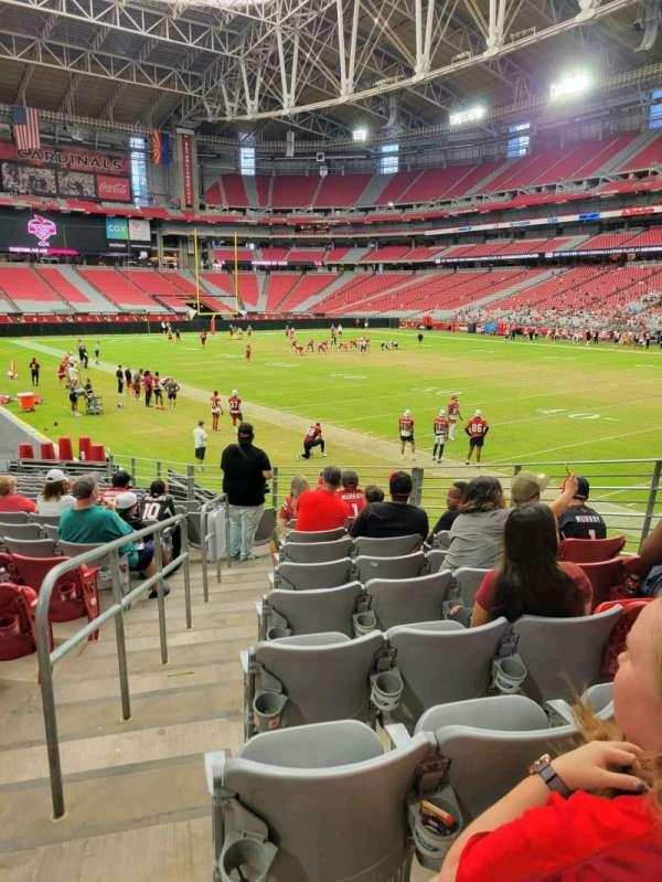 State Farm Stadium, secção: 101, fila: 18, lugar: 10