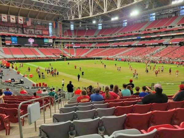 State Farm Stadium, secção: 101, fila: 23, lugar: 11