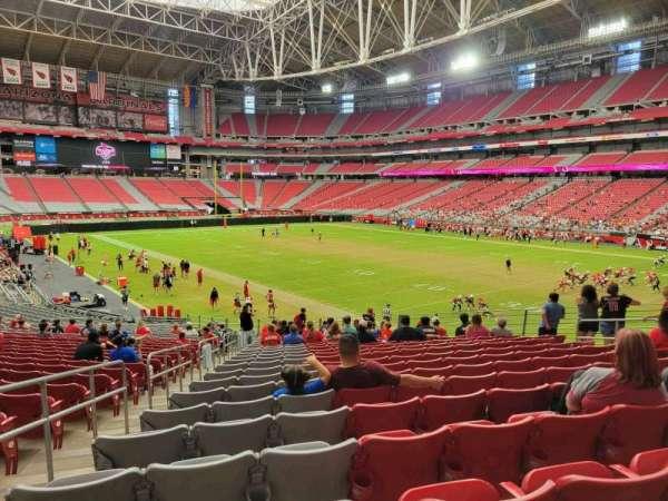 State Farm Stadium, secção: 101, fila: 31, lugar: 20