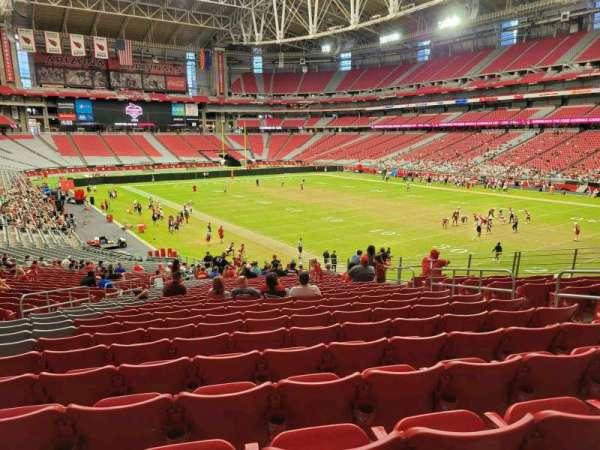 State Farm Stadium, secção: 101, fila: 38, lugar: 20