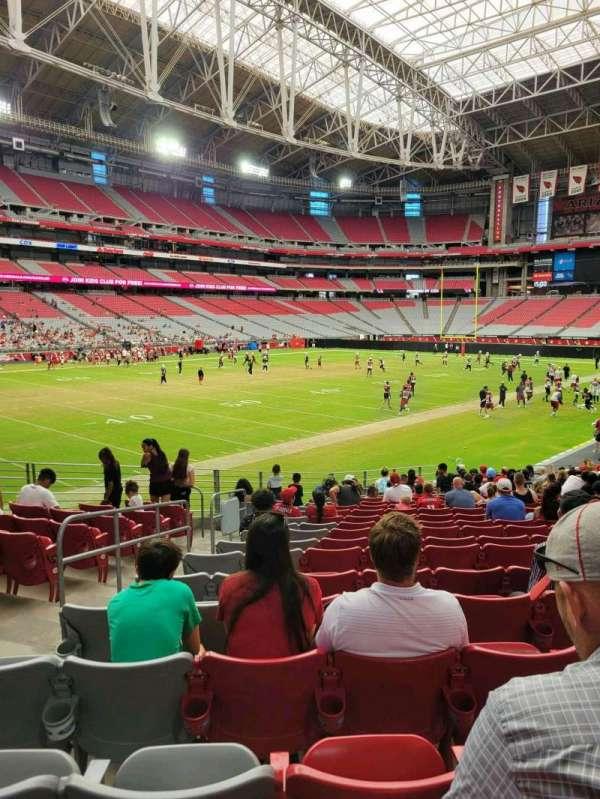 State Farm Stadium, secção: 136, fila: 20, lugar: 19