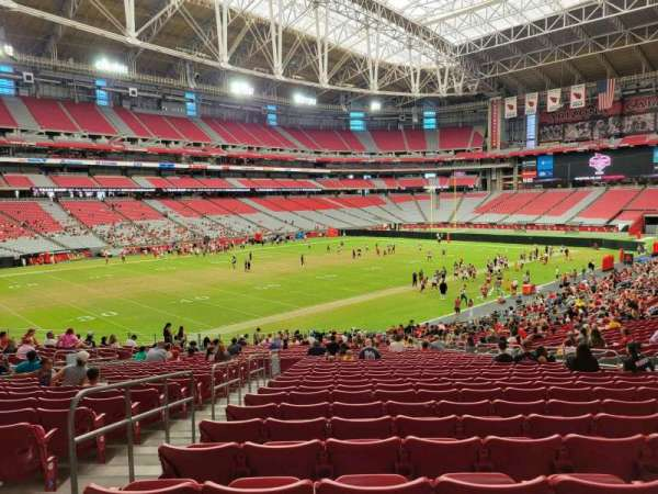 State Farm Stadium, secção: 136, fila: 35, lugar: 14