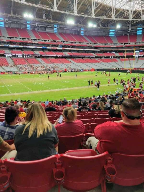 State Farm Stadium, secção: 135, fila: 20, lugar: 9