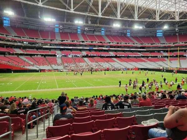 State Farm Stadium, secção: 134, fila: 20, lugar: 17