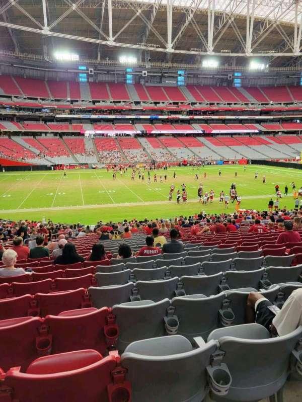 State Farm Stadium, secção: 134, fila: 33, lugar: 16