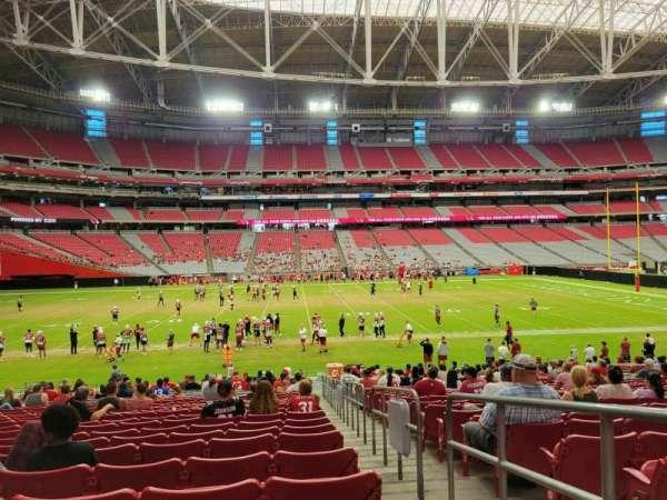 State Farm Stadium, secção: 133, fila: 24, lugar: 1