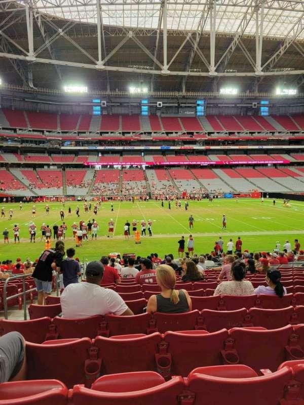 State Farm Stadium, secção: 132, fila: 21, lugar: 16