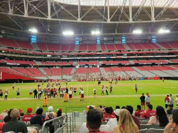 State Farm Stadium, secção: 132, fila: 10, lugar: 18