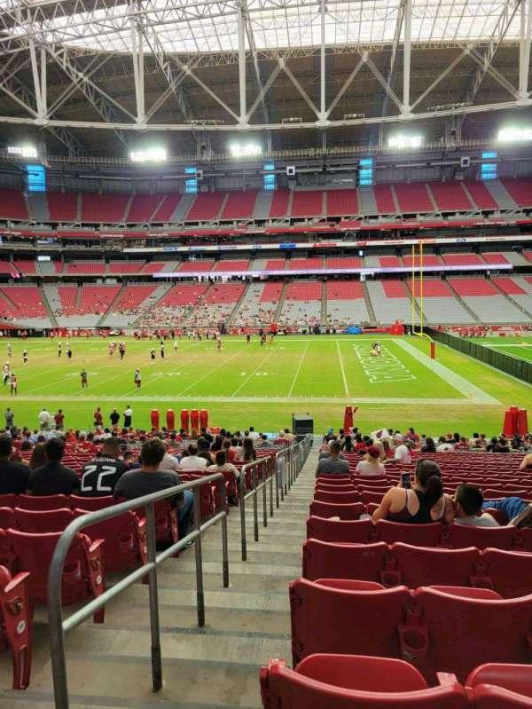 State Farm Stadium, secção: 129, fila: 29, lugar: 18