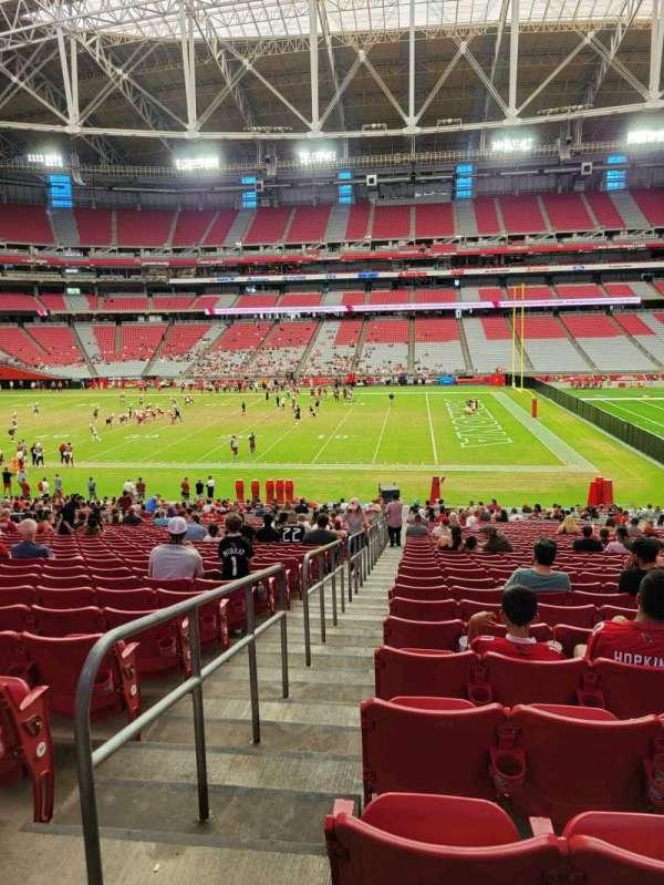 State Farm Stadium, secção: 129, fila: 37, lugar: 18