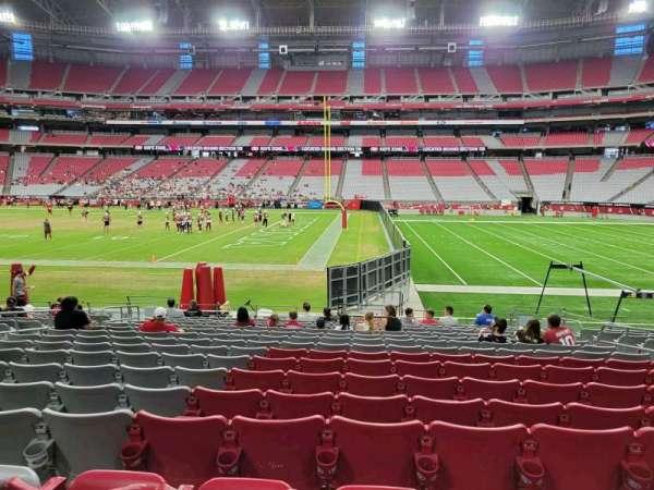 State Farm Stadium, secção: 128, fila: 15, lugar: 8