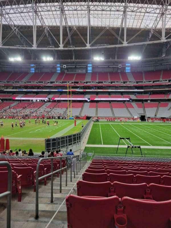 State Farm Stadium, secção: 127, fila: 18, lugar: 18