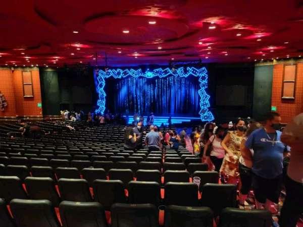 The Mirage Theatre, secção: 102, fila: O, lugar: 28