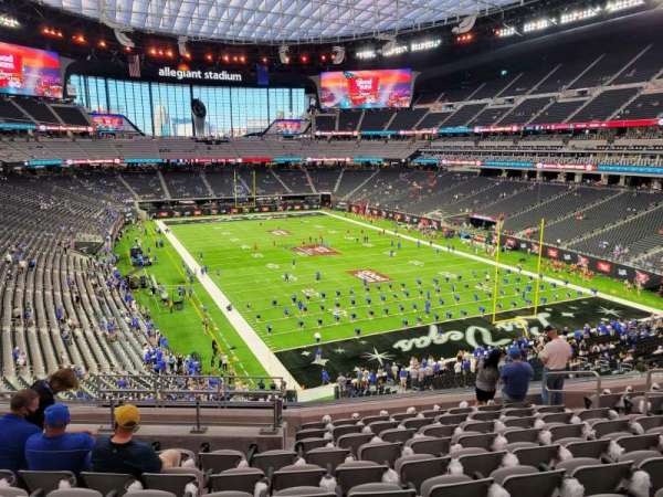 Allegiant Stadium, secção: 228, fila: 10, lugar: 10