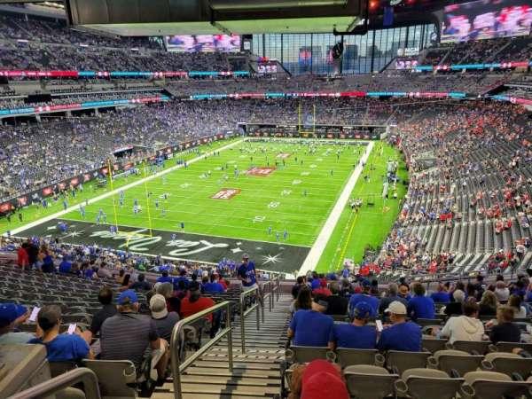 Allegiant Stadium, secção: 222, fila: 17, lugar: 21