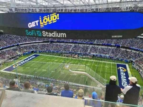 SoFi Stadium, secção: 543, fila: 5, lugar: 14