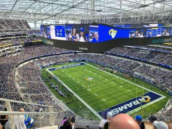 SoFi Stadium, secção: 550, fila: 6, lugar: 21