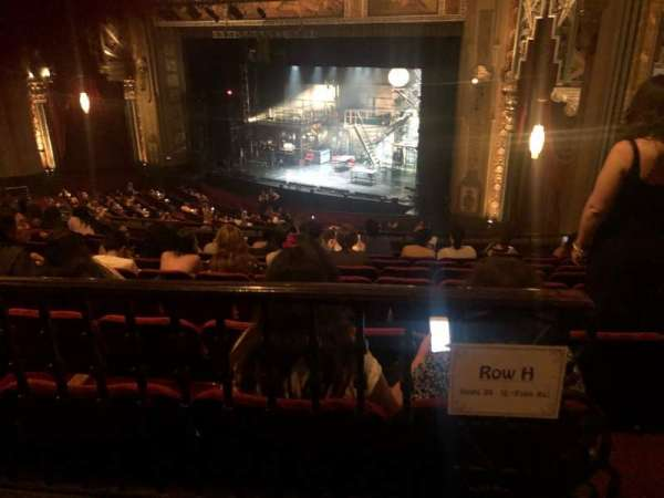 Hollywood Pantages Theatre, secção: Mezzanine Right, fila: H, lugar: 20