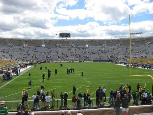 Notre Dame Stadium, secção: 2, fila: 45, lugar: 15