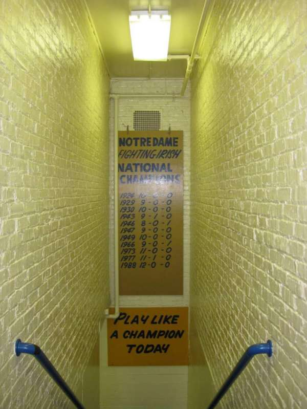 Notre Dame Stadium, secção: Locker Room