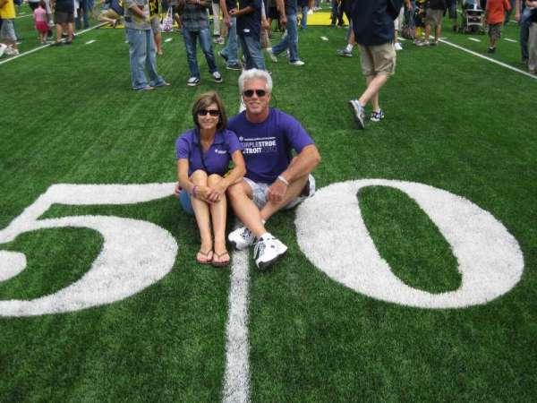 Michigan Stadium, secção: 50 Yard Line