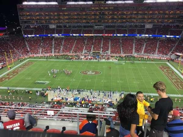 Levi's Stadium, secção: 411, fila: 6A, lugar: 4