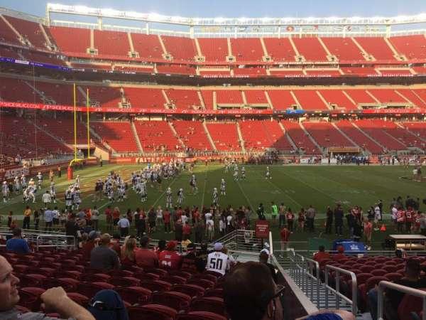 Levi's Stadium, secção: 142, fila: 17, lugar: 5