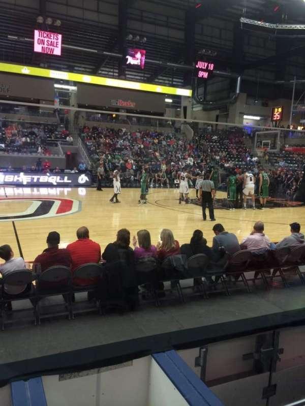 Ralston Arena, secção: 114, fila: C, lugar: 13