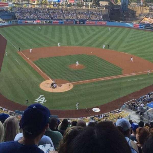 Dodger Stadium, secção: 4RS, fila: S, lugar: 10