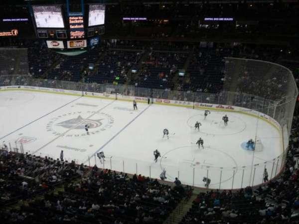 Nationwide Arena, secção: 201, fila: A, lugar: 11