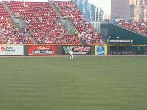 Great American Ball Park, secção: 110, fila: y, lugar: 20