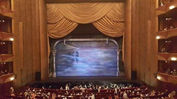 Metropolitan Opera House - Lincoln Center, secção: Grand Tier, fila: A, lugar: 102