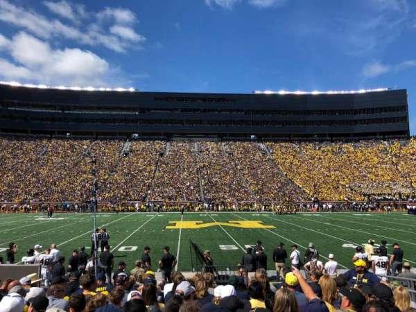 Michigan Stadium, secção: 1, fila: 10, lugar: 6