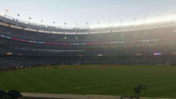 Yankee Stadium, secção: 104, fila: 6, lugar: 4