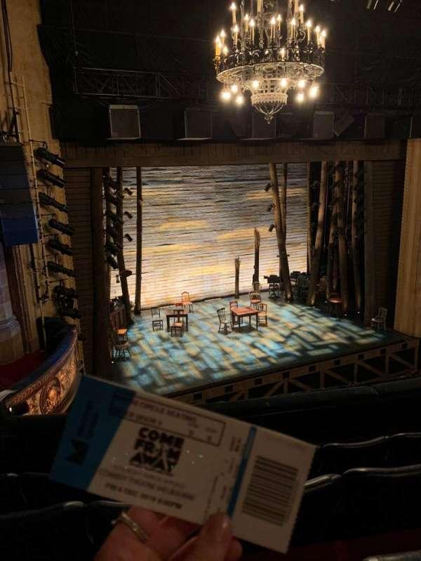 Comedy Theatre, secção: DRESS CIRCLE, fila: D, lugar: 8