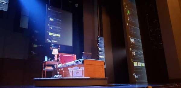 Music Box Theatre, secção: Orchestra C, fila: B, lugar: 108