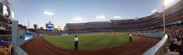 Dodger Stadium, secção: 53FD, fila: AA, lugar: 1