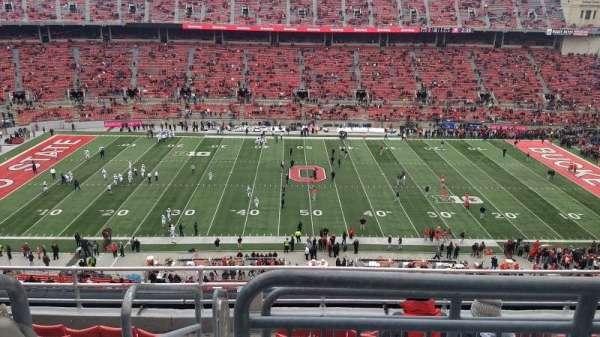 Ohio Stadium, secção: 21C, fila: 8, lugar: 1