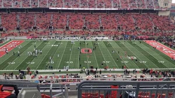 Ohio Stadium, secção: 21C, fila: 9, lugar: 1