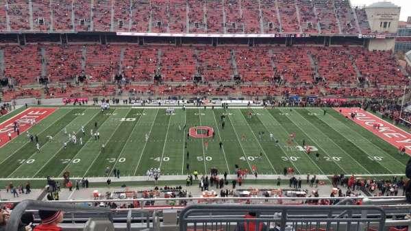 Ohio Stadium, secção: 21C, fila: 10, lugar: 1