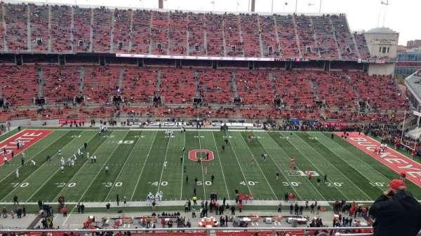 Ohio Stadium, secção: 21C, fila: 11, lugar: 1