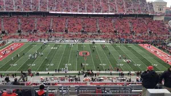 Ohio Stadium, secção: 21C, fila: 12, lugar: 1