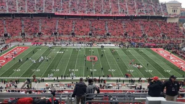 Ohio Stadium, secção: 21C, fila: 13, lugar: 1