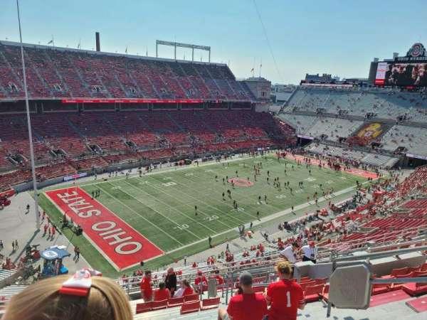 Ohio Stadium, secção: 11C, fila: 18, lugar: 27