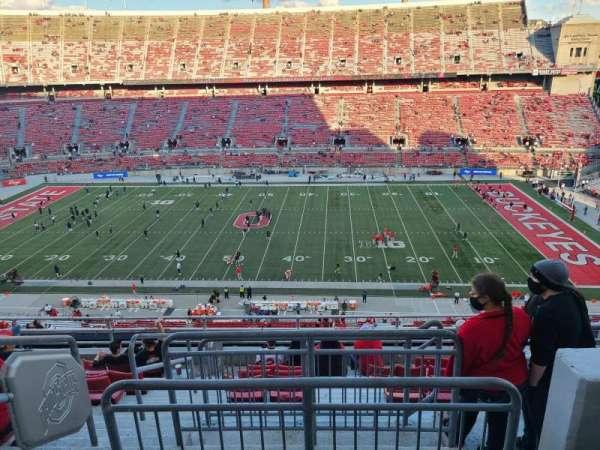 Ohio Stadium, secção: 21C, fila: 20, lugar: 3