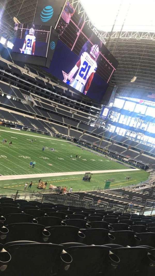 AT&T Stadium, secção: 217, fila: 8, lugar: 12